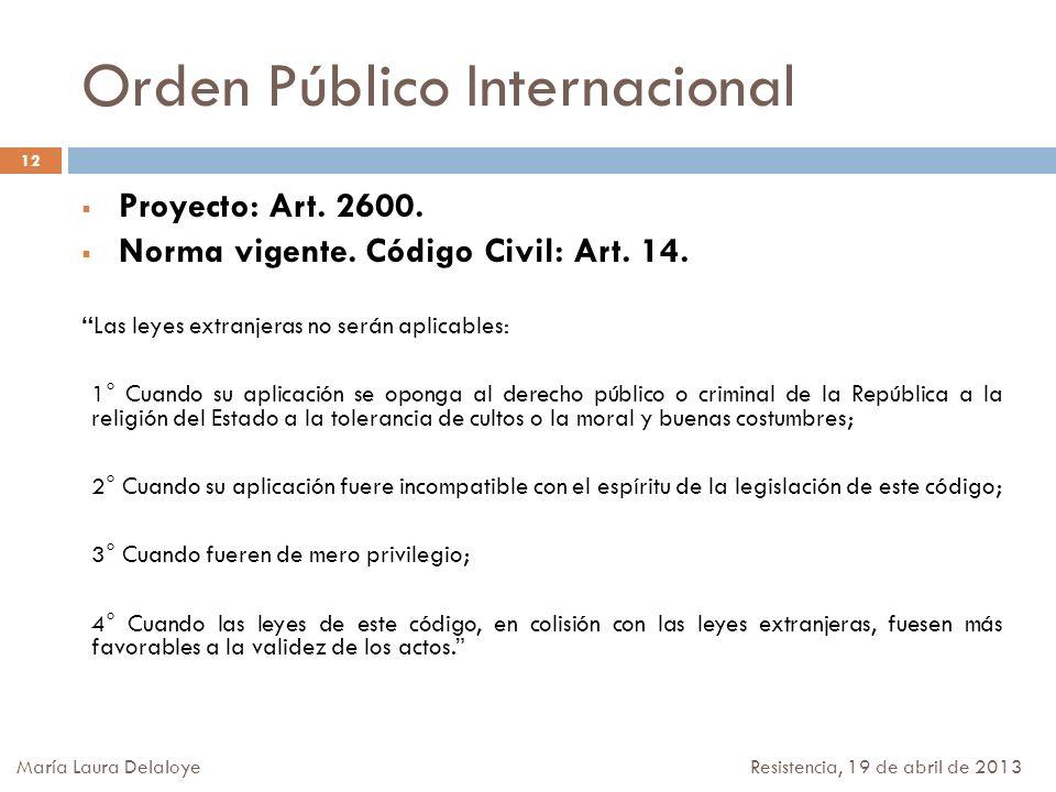 Orden Público Internacional