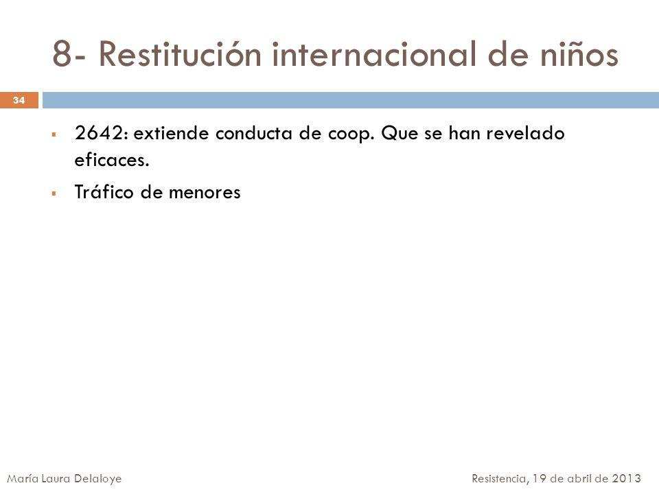 8- Restitución internacional de niños