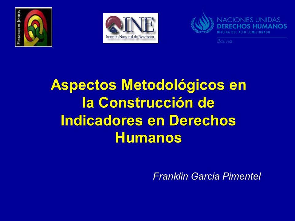 Aspectos Metodológicos en la Construcción de Indicadores en Derechos Humanos