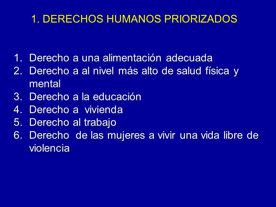 1. DERECHOS HUMANOS PRIORIZADOS