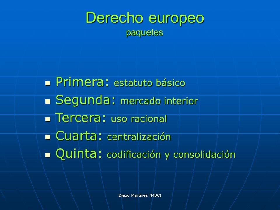 Derecho europeo paquetes