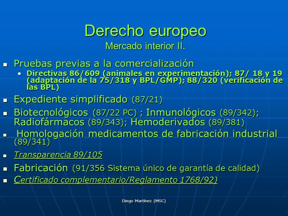 Derecho europeo Mercado interior II.