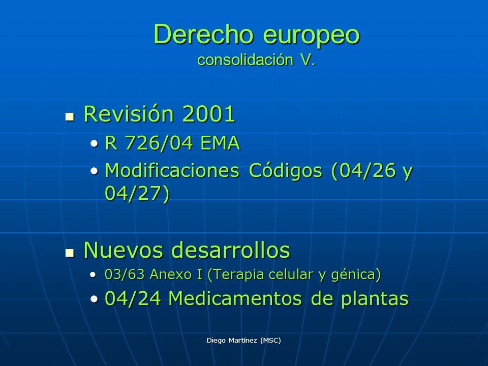 Derecho europeo consolidación V.