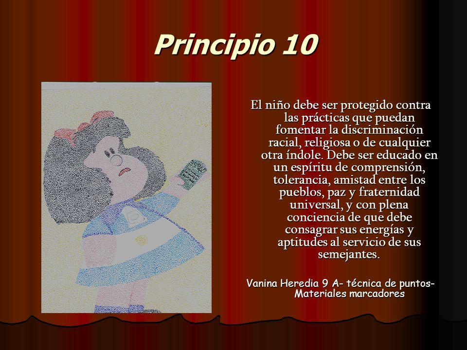 Vanina Heredia 9 A- técnica de puntos- Materiales marcadores