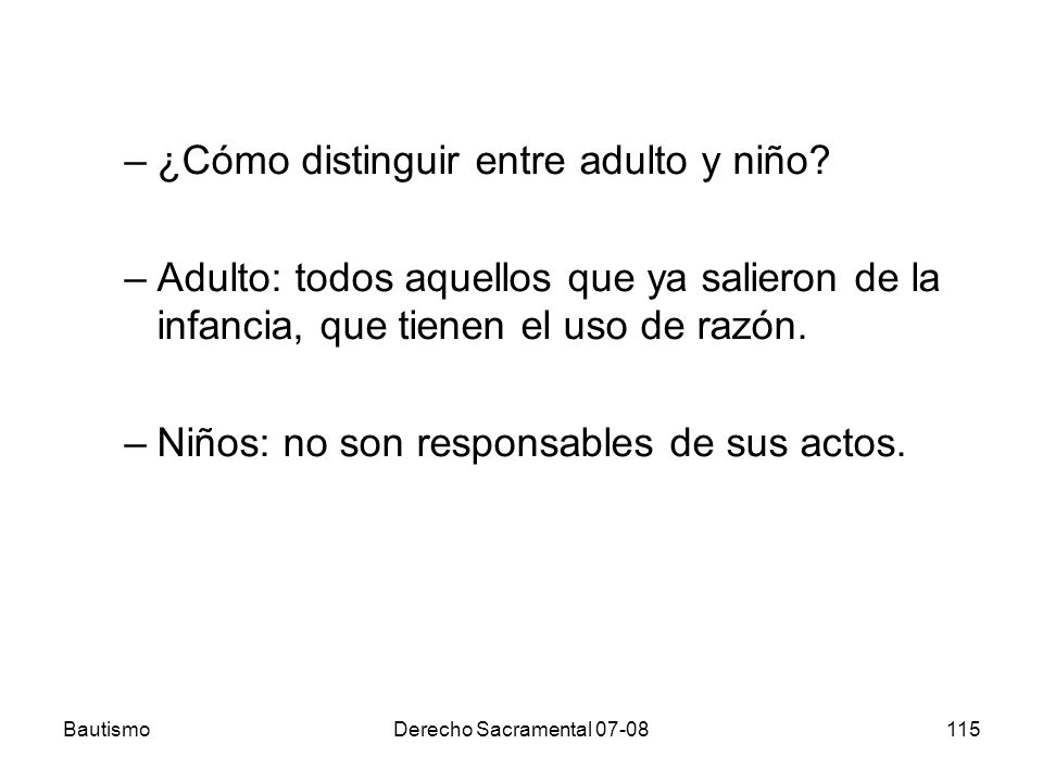 ¿Cómo distinguir entre adulto y niño