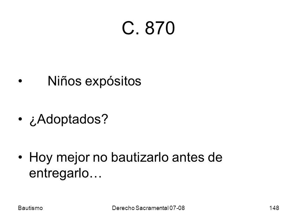 C. 870 Niños expósitos ¿Adoptados