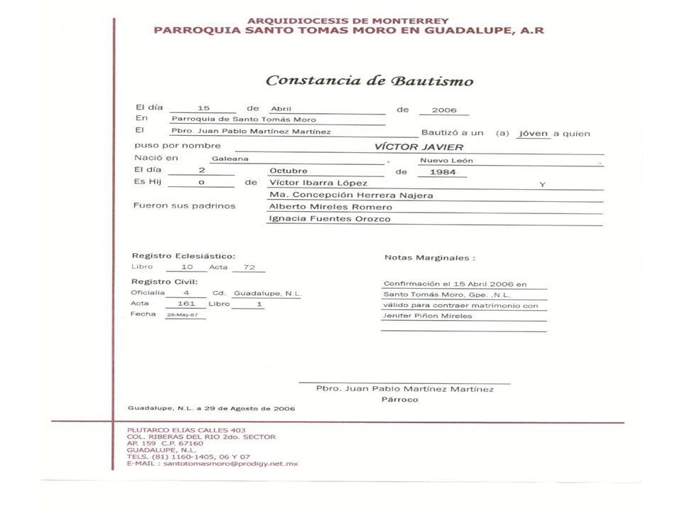Acta simple Bautismo Derecho Sacramental 07-08