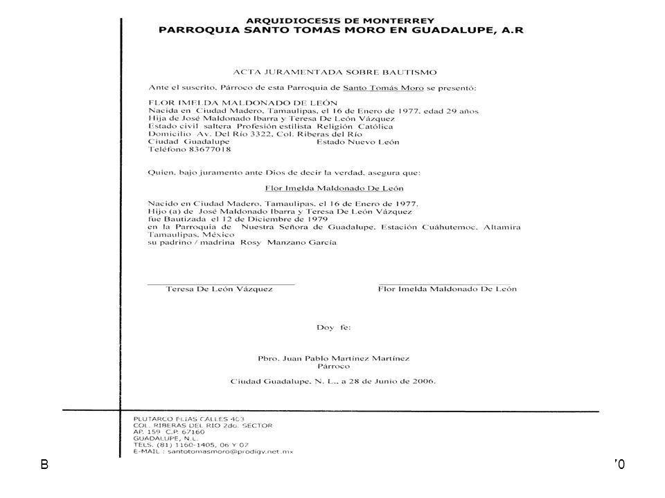 Acta Juramentada Bautismo Derecho Sacramental 07-08
