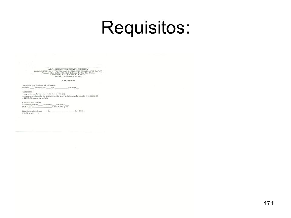 Requisitos: Bautismo Derecho Sacramental 07-08