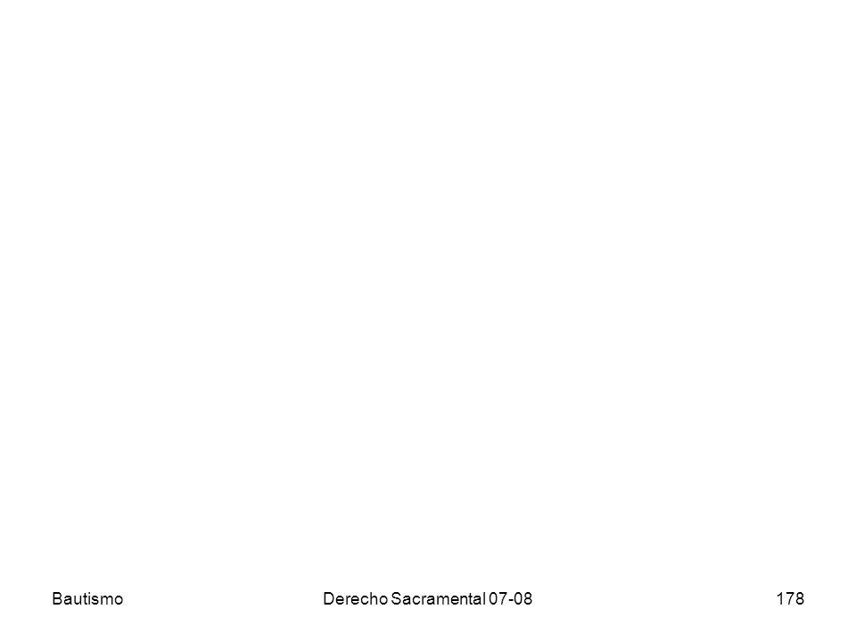 Bautismo Derecho Sacramental 07-08