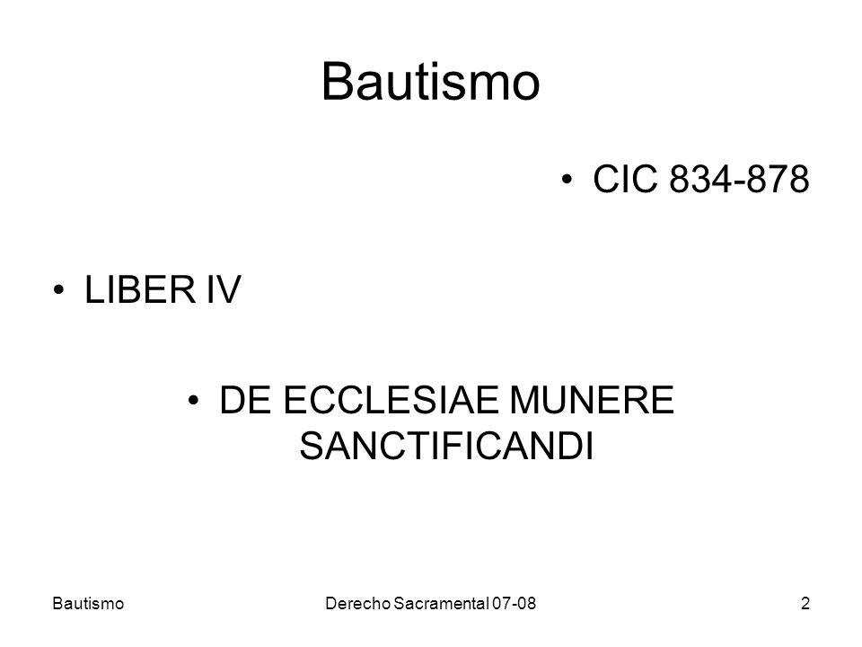 DE ECCLESIAE MUNERE SANCTIFICANDI