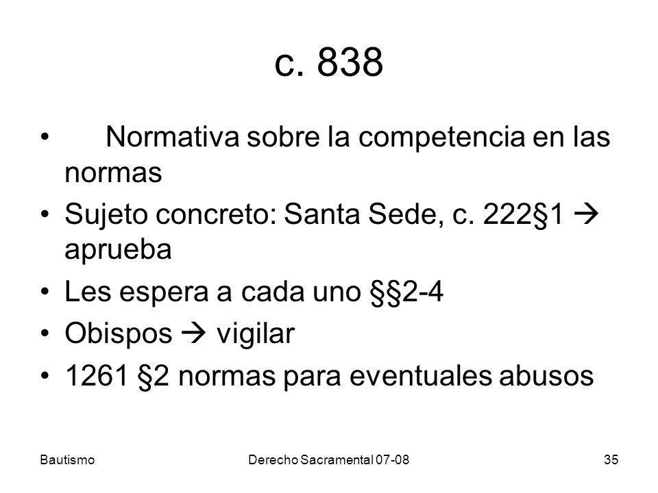 c. 838 Normativa sobre la competencia en las normas