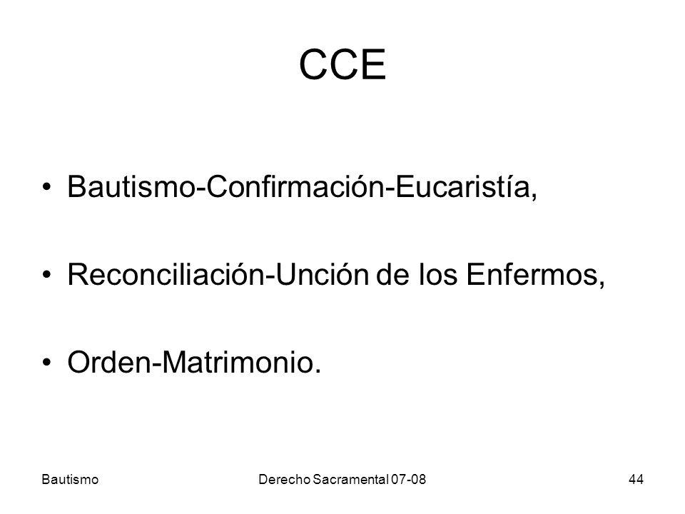 CCE Bautismo-Confirmación-Eucaristía,