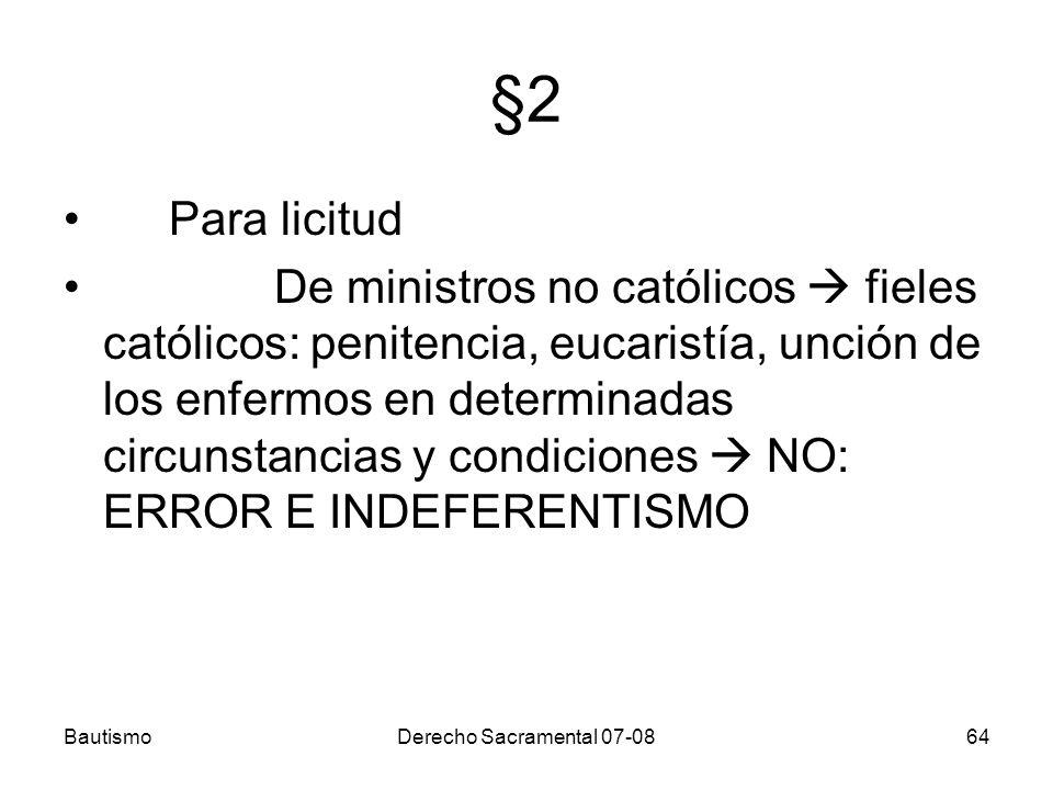 §2 Para licitud.