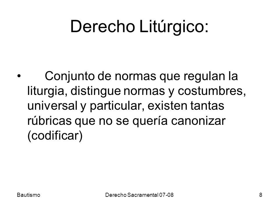 Derecho Litúrgico: