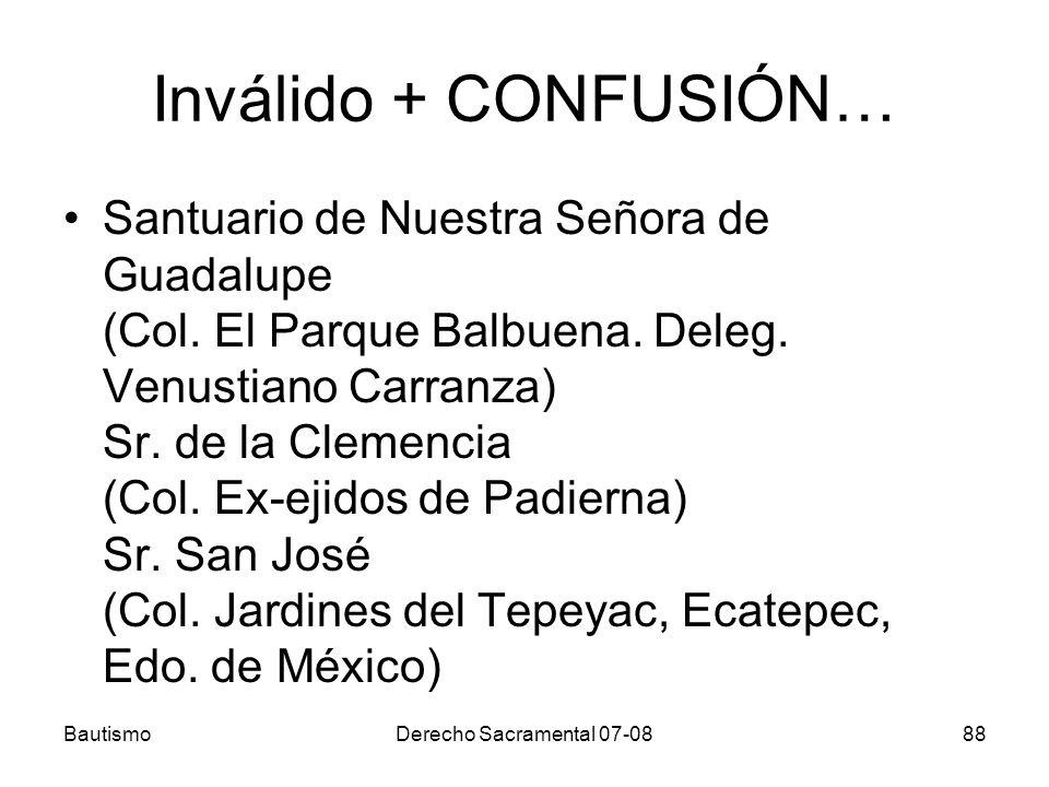 Inválido + CONFUSIÓN…