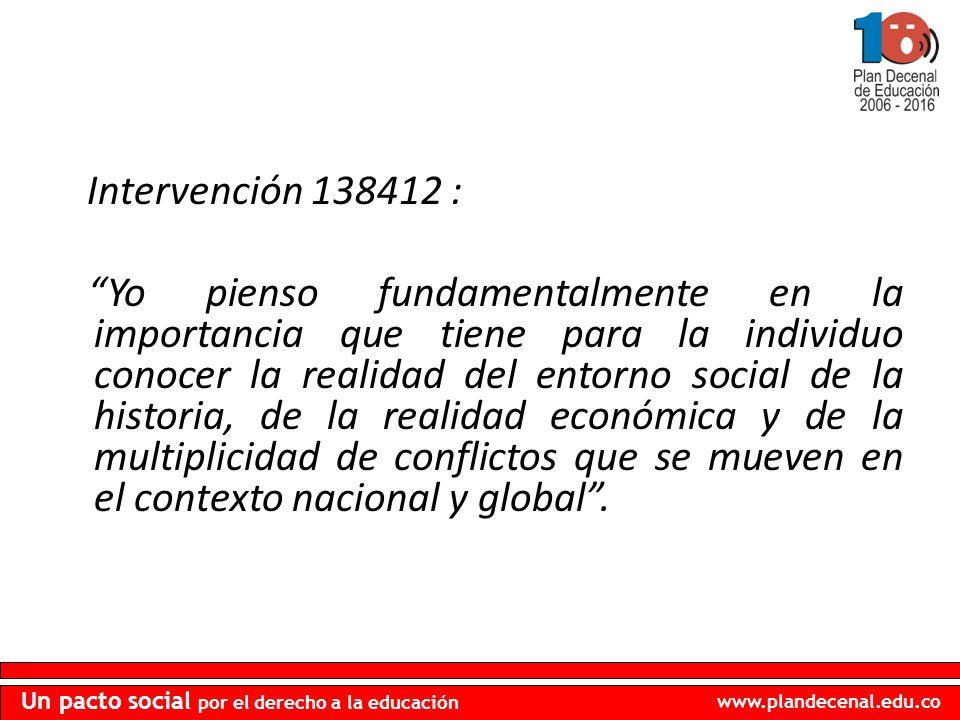 Intervención 138412 :