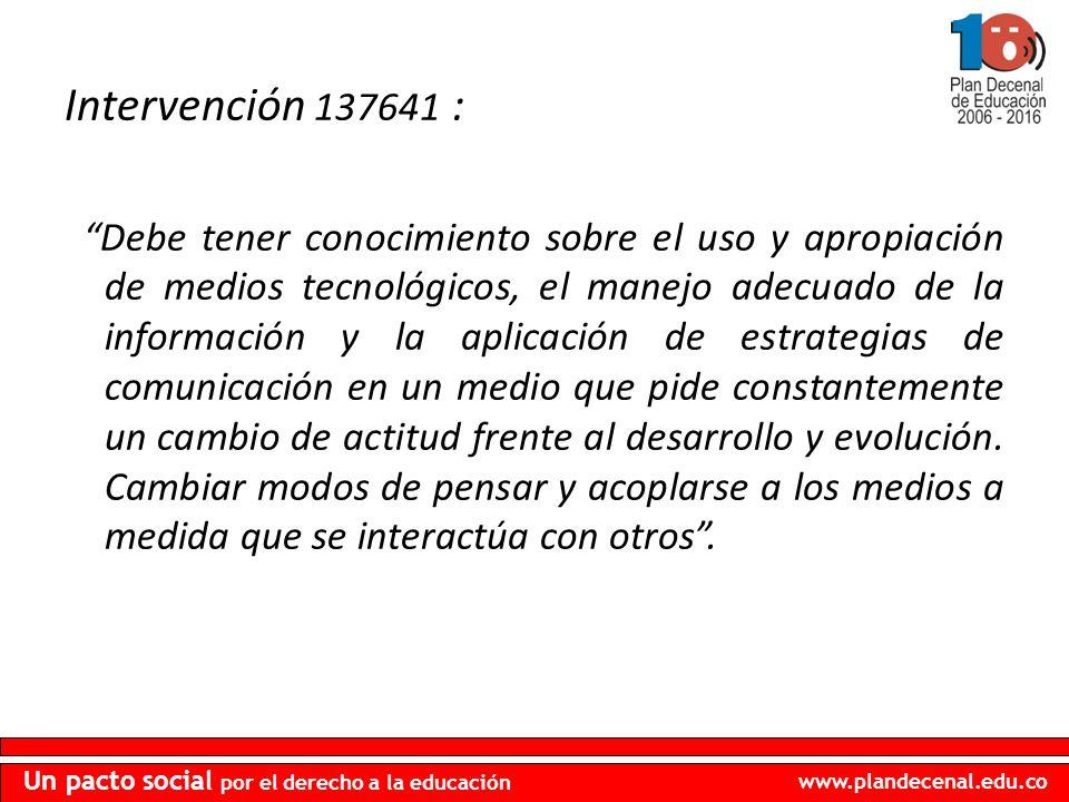 Intervención 137641 :