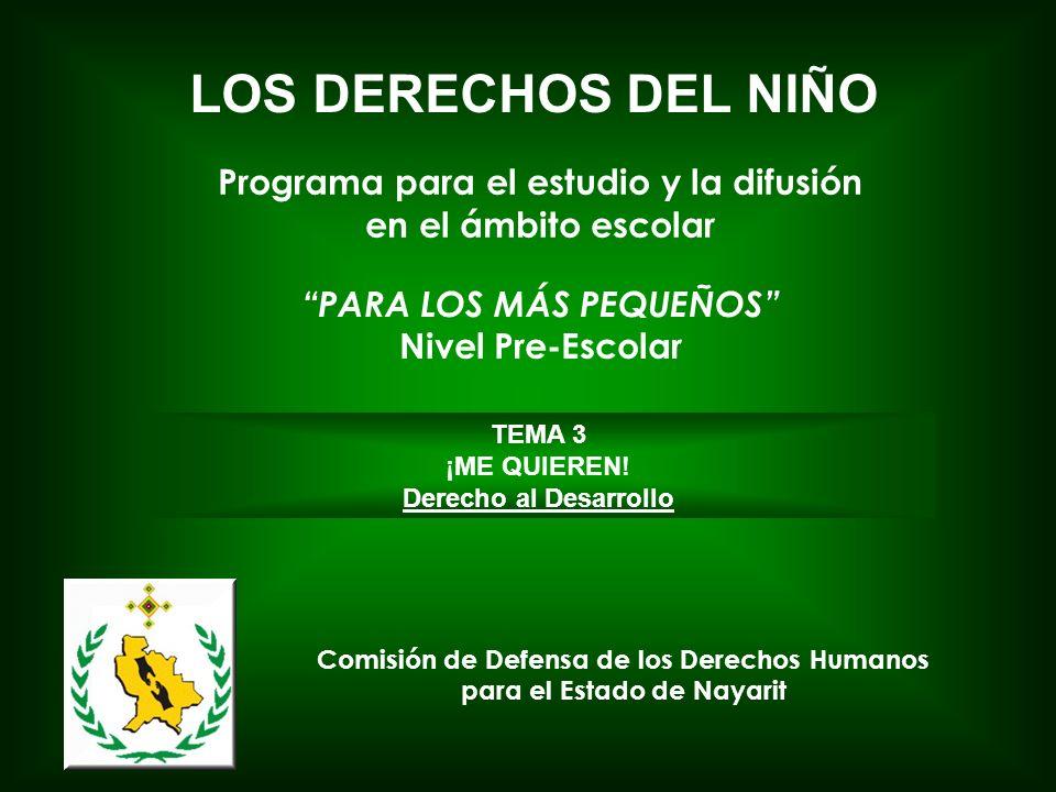 LOS DERECHOS DEL NIÑO Programa para el estudio y la difusión