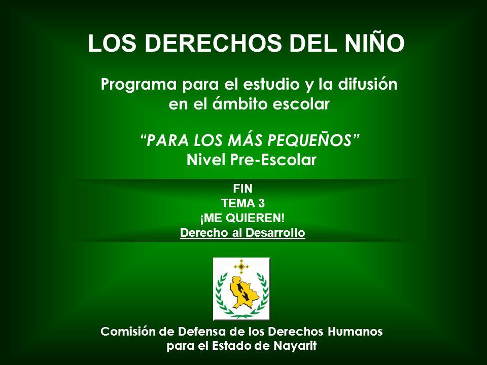 Programa para el estudio y la difusión PARA LOS MÁS PEQUEÑOS