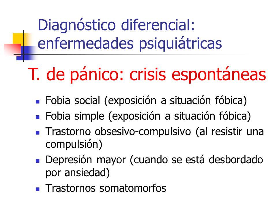 Diagnóstico diferencial: enfermedades psiquiátricas