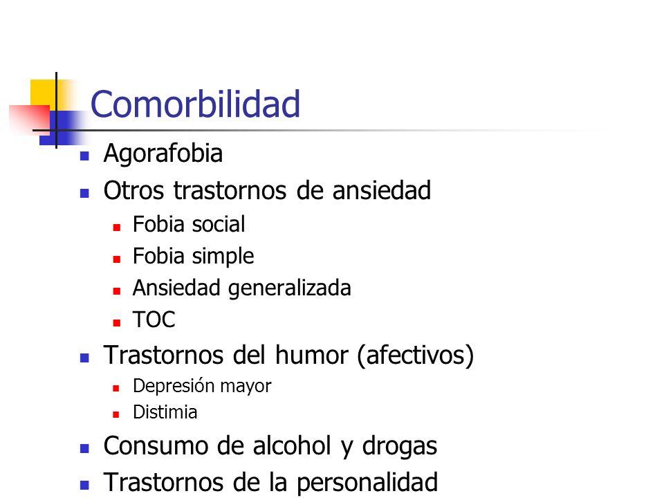 Comorbilidad Agorafobia Otros trastornos de ansiedad