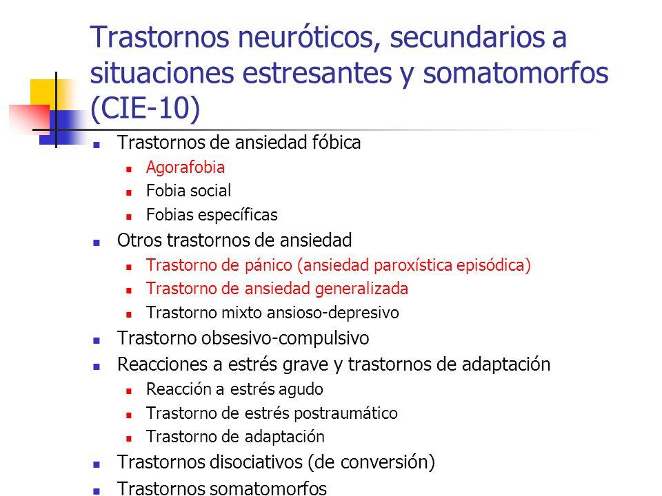Trastornos neuróticos, secundarios a situaciones estresantes y somatomorfos (CIE-10)