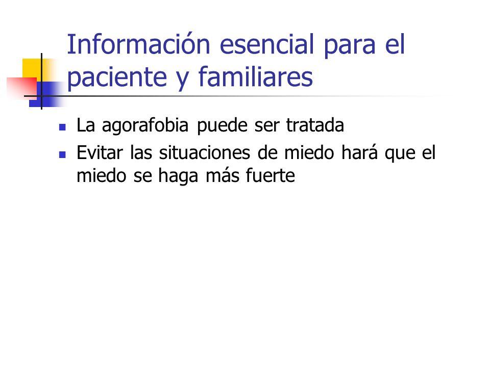 Información esencial para el paciente y familiares