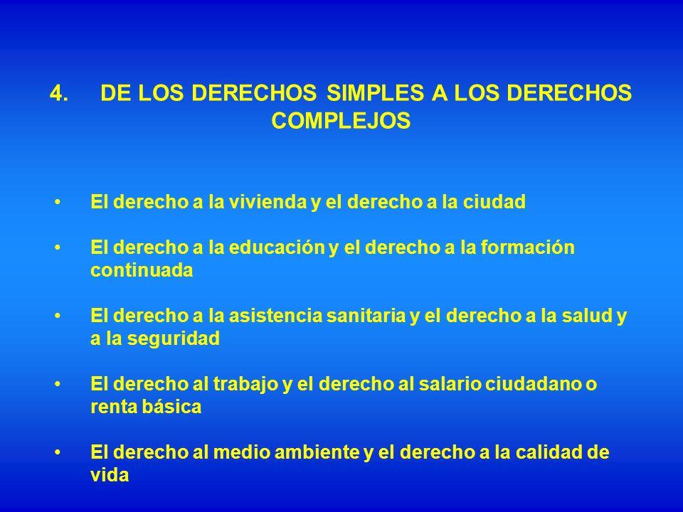 4. DE LOS DERECHOS SIMPLES A LOS DERECHOS COMPLEJOS