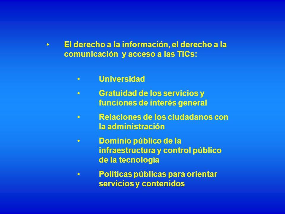 El derecho a la información, el derecho a la comunicación y acceso a las TICs:
