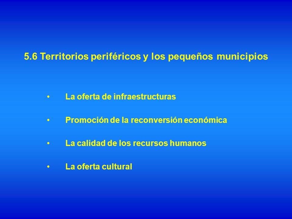 5.6 Territorios periféricos y los pequeños municipios