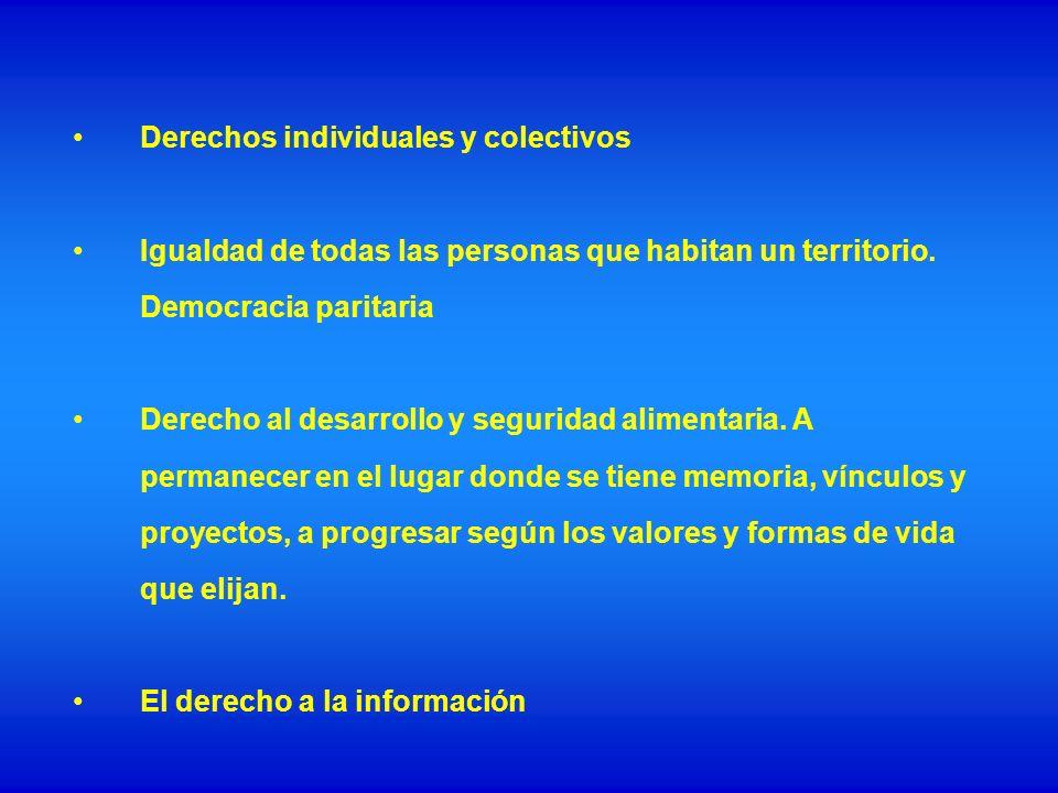 Derechos individuales y colectivos