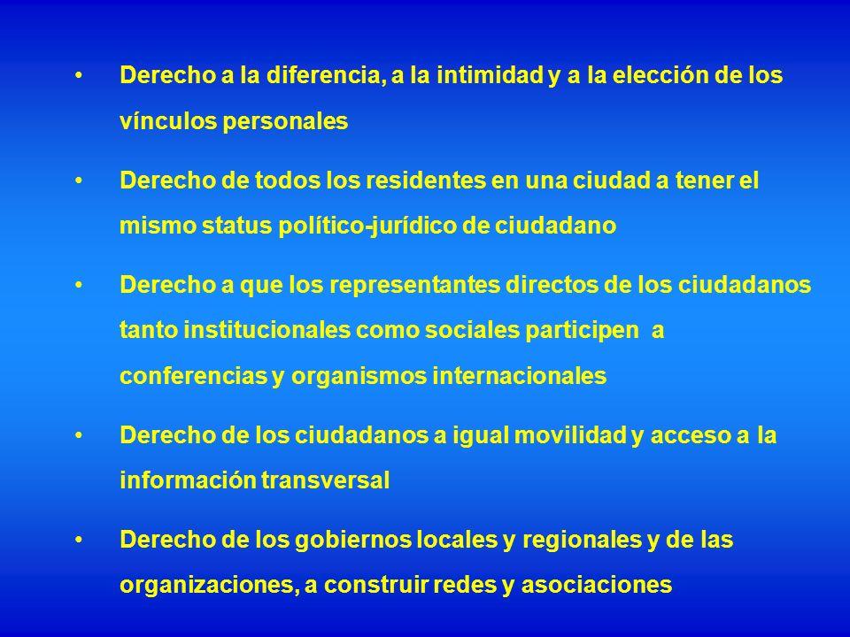 Derecho a la diferencia, a la intimidad y a la elección de los vínculos personales