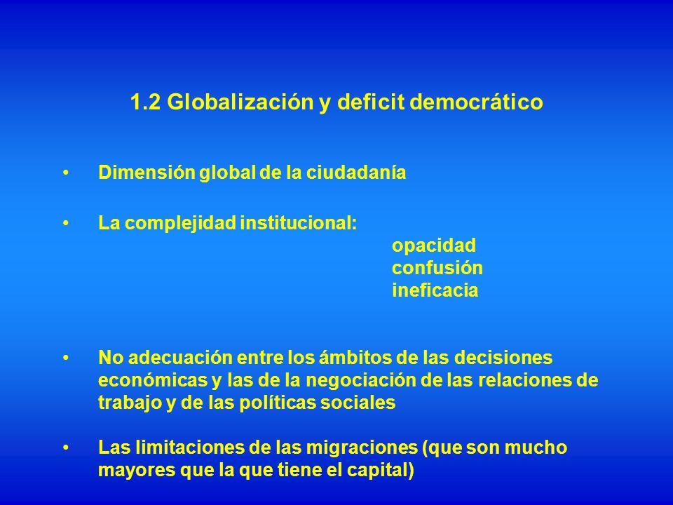 1.2 Globalización y deficit democrático
