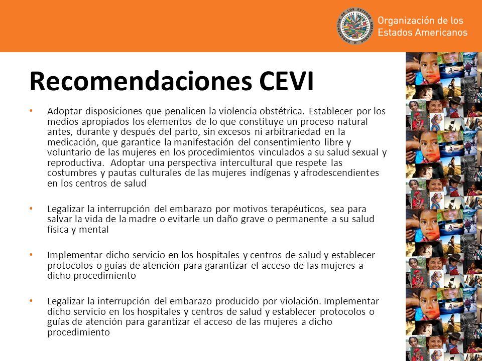 Recomendaciones CEVI