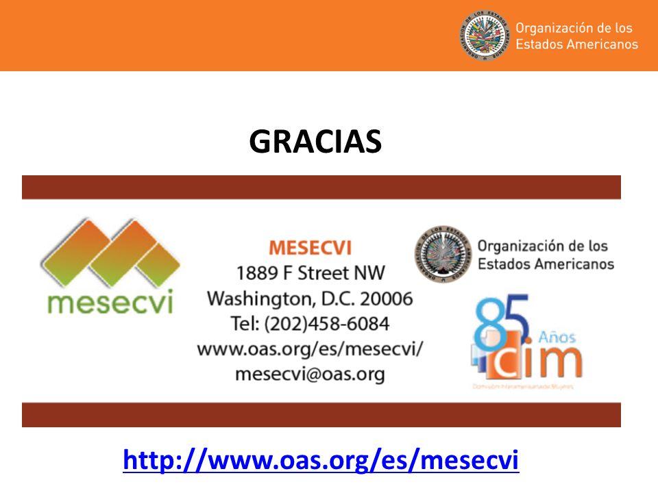 GRACIAS http://www.oas.org/es/mesecvi 13