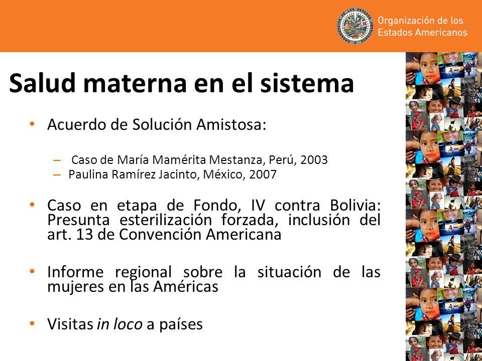 Salud materna en el sistema