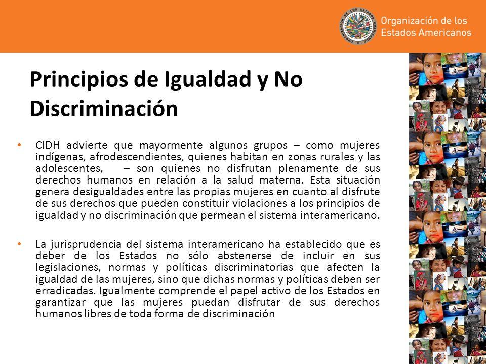 Principios de Igualdad y No Discriminación