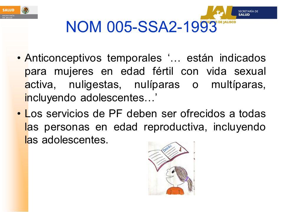 NOM 005-SSA2-1993