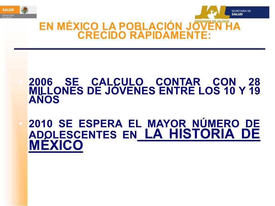 EN MÉXICO LA POBLACIÓN JOVEN HA CRECIDO RÁPIDAMENTE: