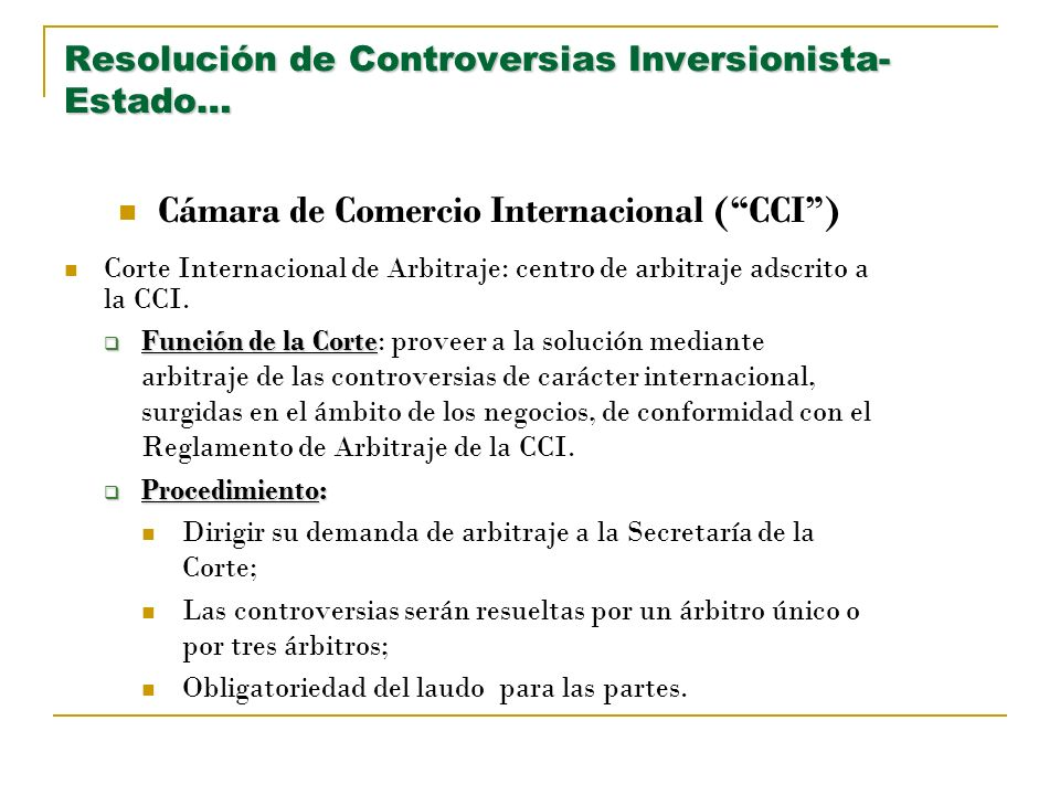 Resolución de Controversias Inversionista-Estado…
