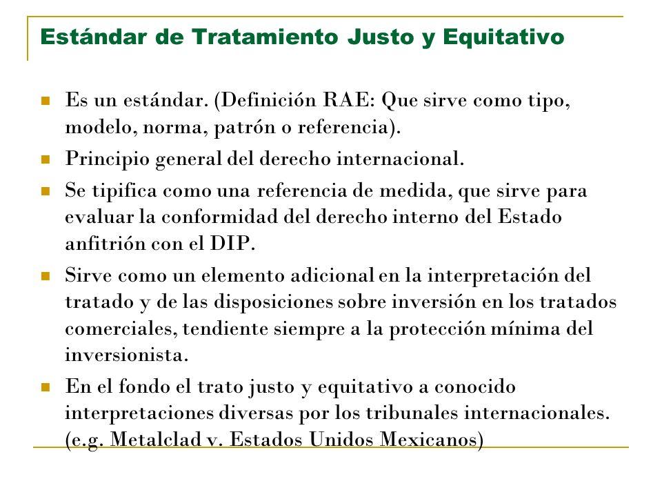 Estándar de Tratamiento Justo y Equitativo