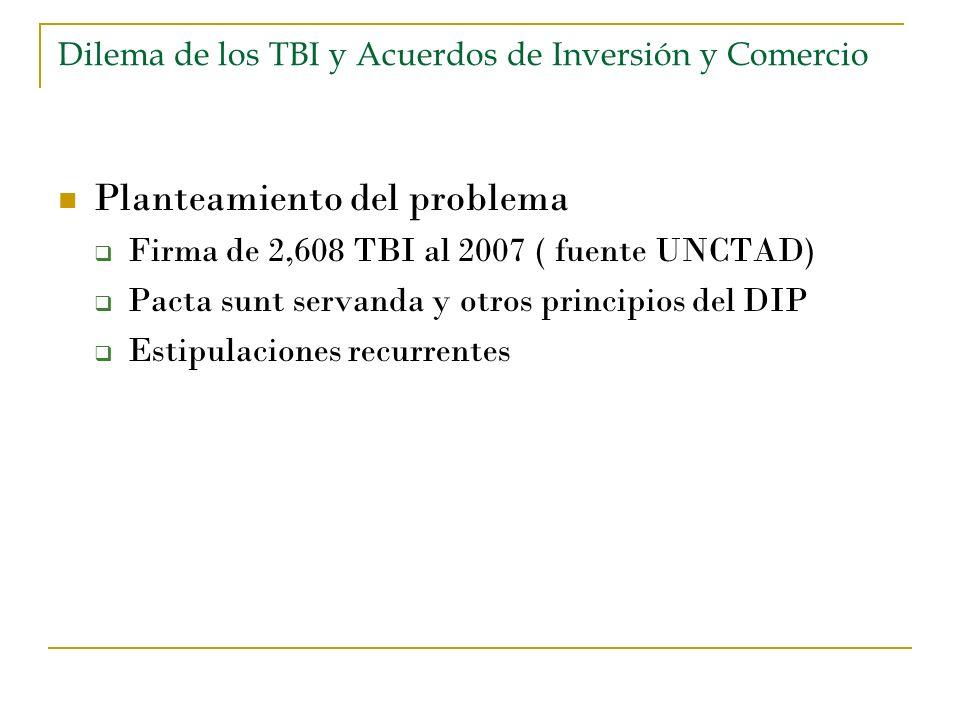 Dilema de los TBI y Acuerdos de Inversión y Comercio