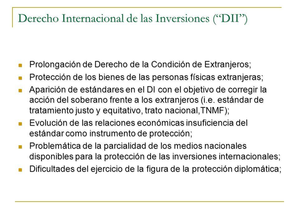 Derecho Internacional de las Inversiones ( DII )