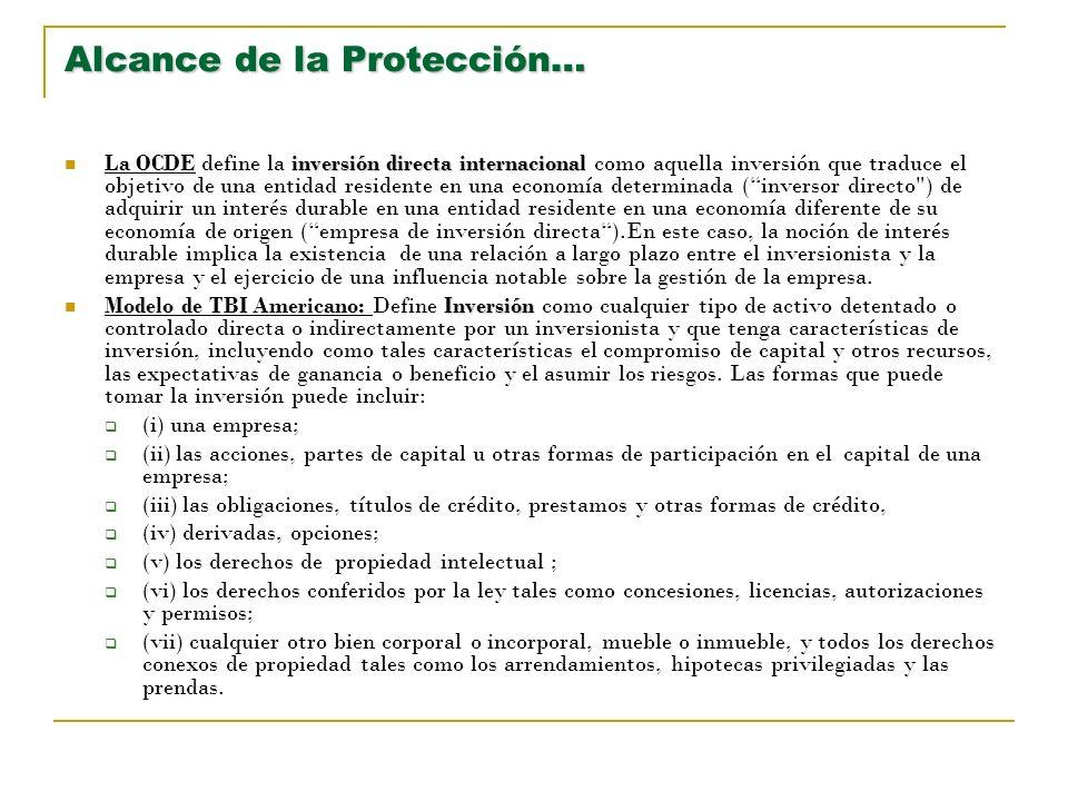 Alcance de la Protección…