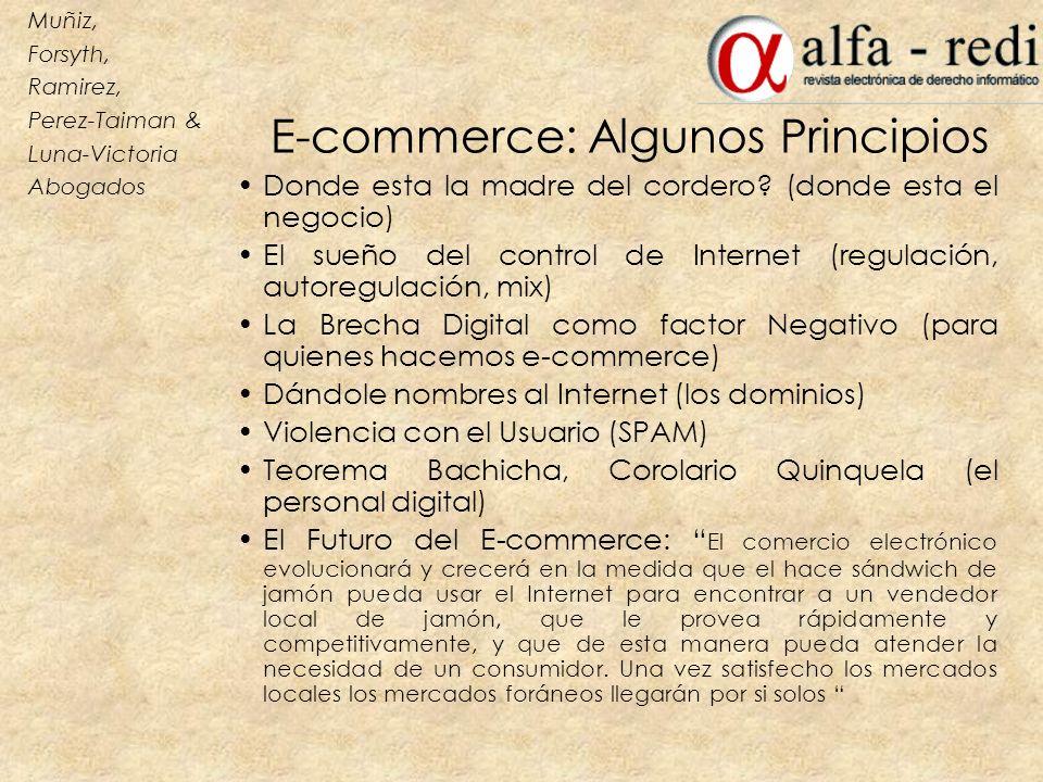E-commerce: Algunos Principios