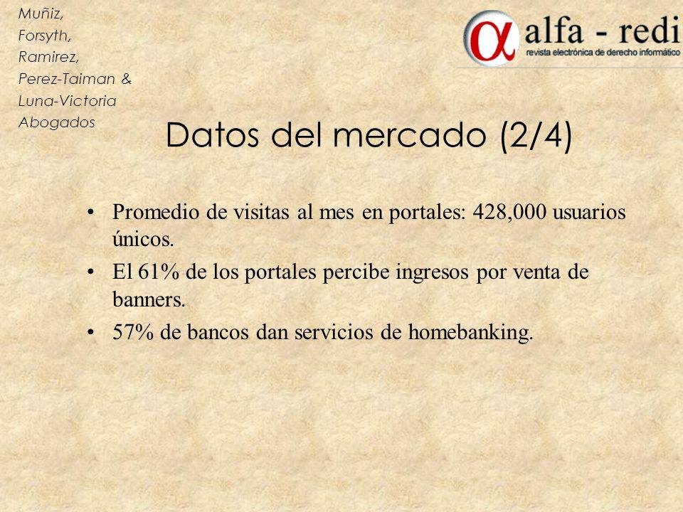 Muñiz, Forsyth, Ramirez, Perez-Taiman & Luna-Victoria. Abogados. Datos del mercado (2/4)