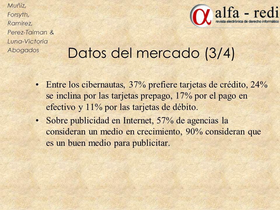 Muñiz, Forsyth, Ramirez, Perez-Taiman & Luna-Victoria. Abogados. Datos del mercado (3/4)