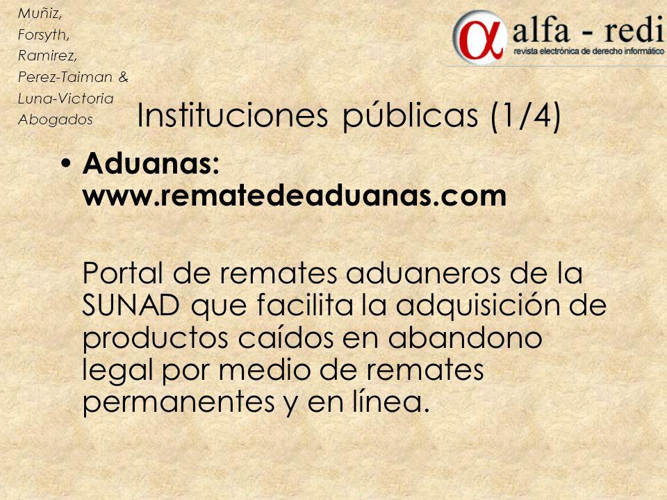 Instituciones públicas (1/4)