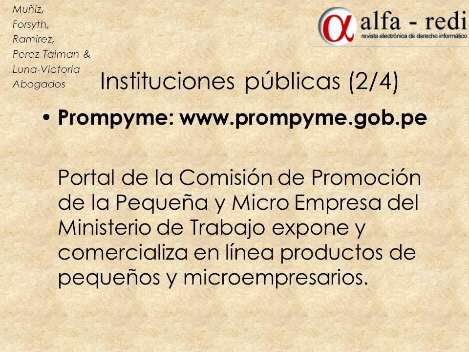 Instituciones públicas (2/4)